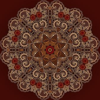 伝統的なテクスチャ要素の背景の花