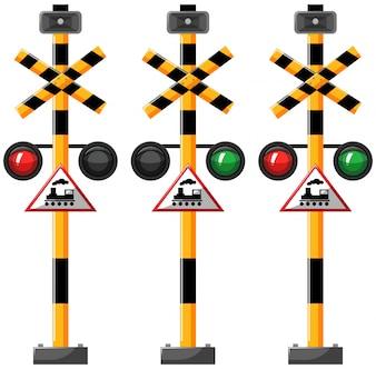 Traffic lights for train illustration