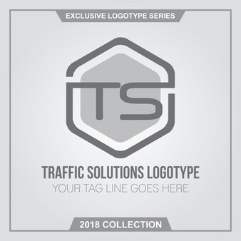 Traffic solutions TS letters logotype design