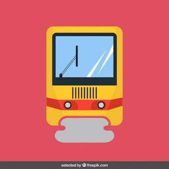 Train in flat design