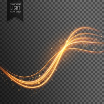トレイルと輝きを伴う透明な照明効果