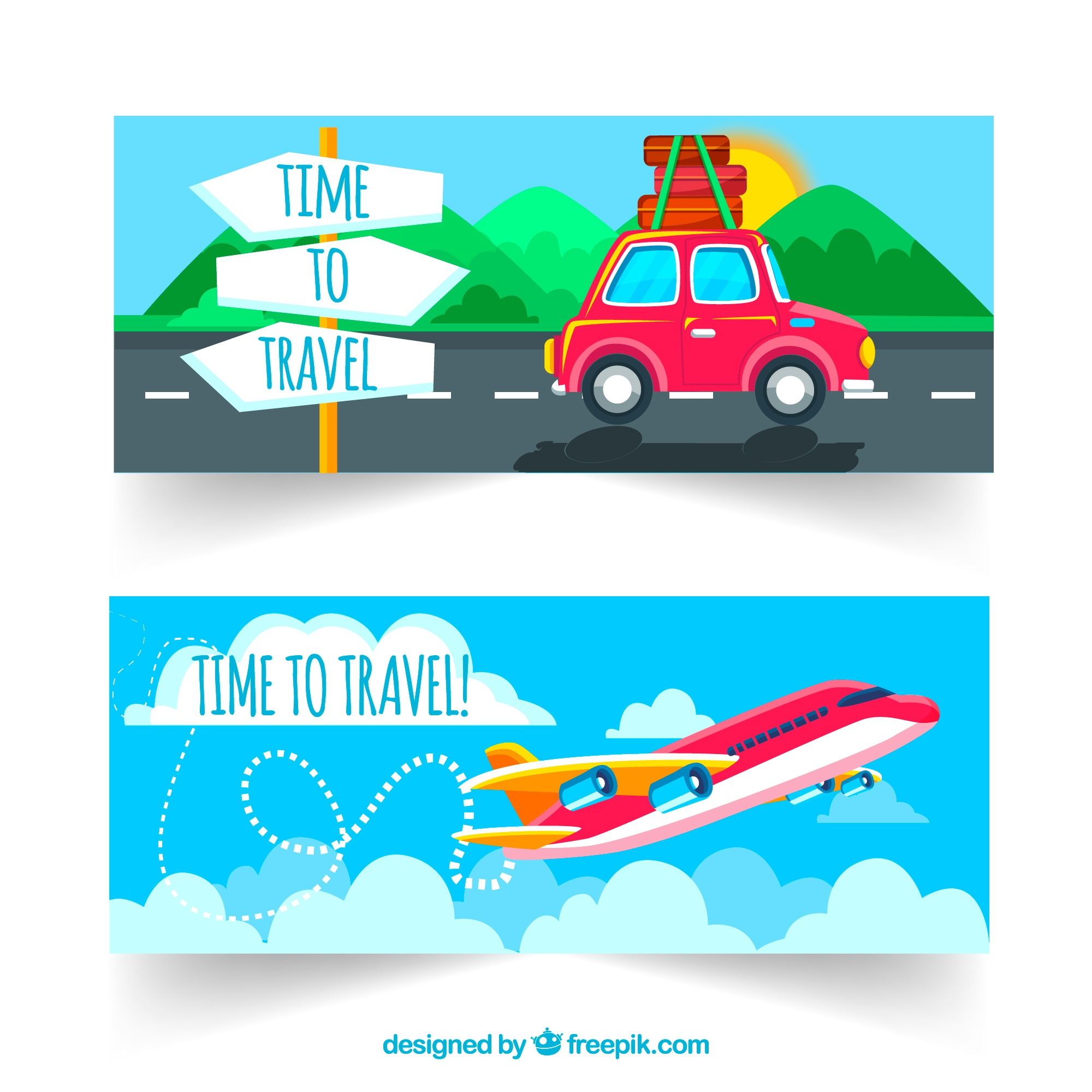 Transport and travel banners