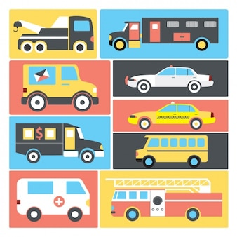 Transport vehicles collection