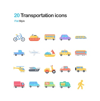 Transportation Flat Illustration