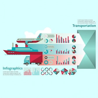 Transportation infographic template