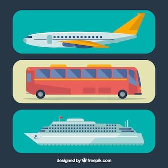 Transports in flat design
