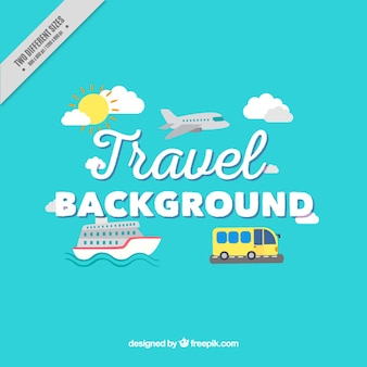 Transports to travel background