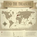 Trasure map vintage design