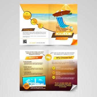 Travel agency leaflet template