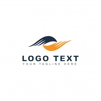 Travel agency logo with wings
