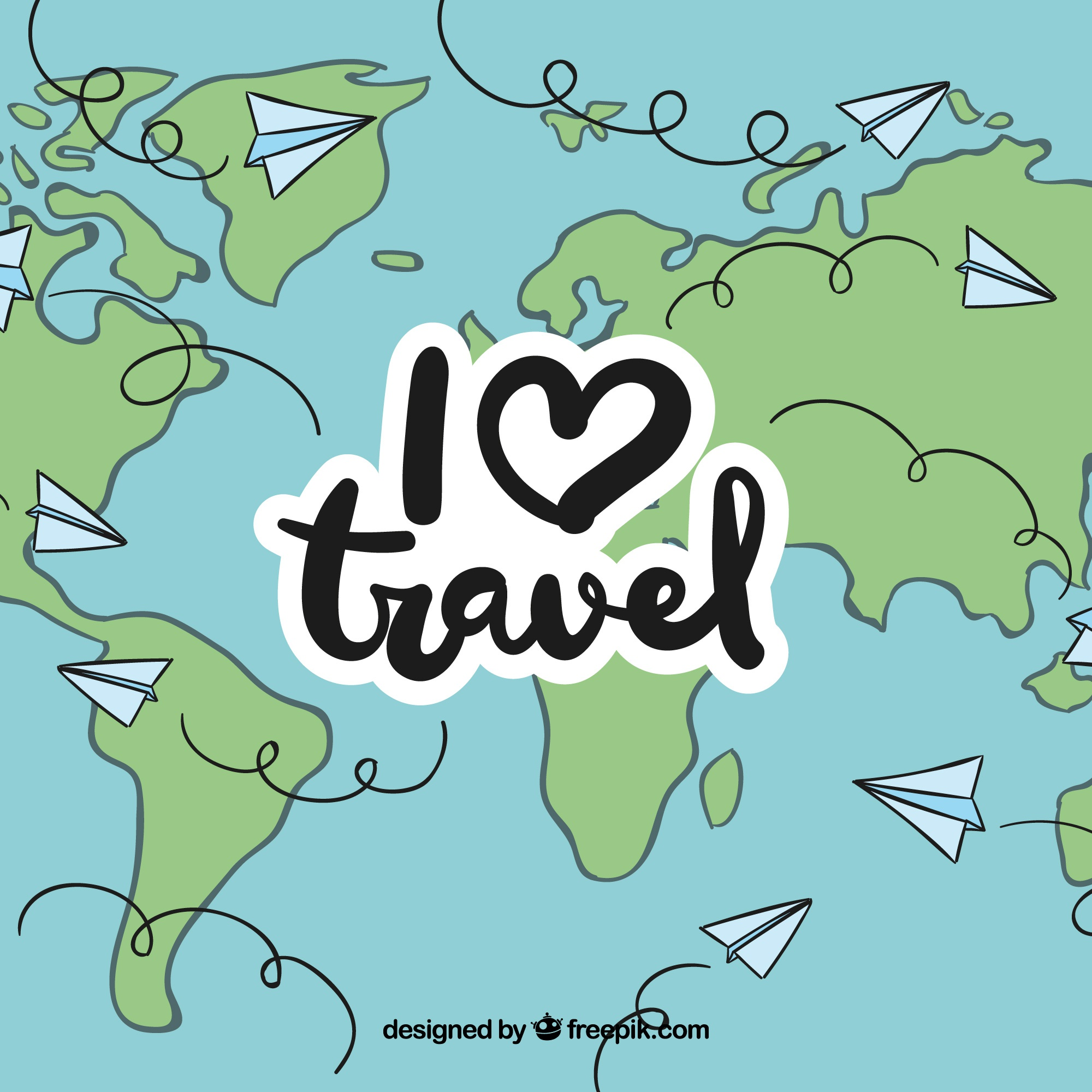 Travel all over the world by paper plane