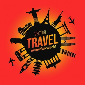 Travel background design