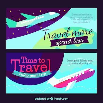 Travel banner modern design