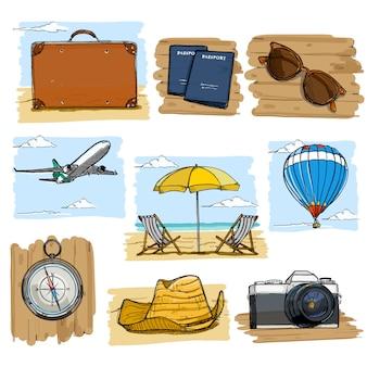 Travel illustrations set