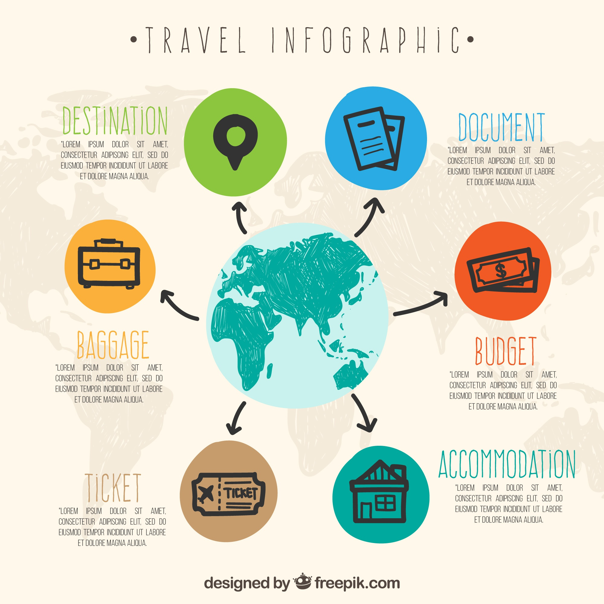 Travel infographic design