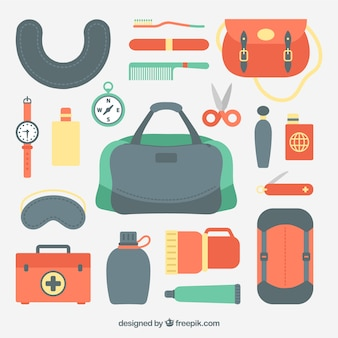 Travel kit flat design