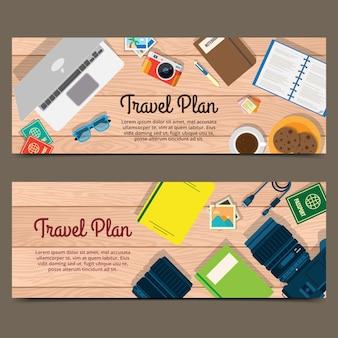 Travel plan banner
