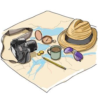 Travel set  illustration