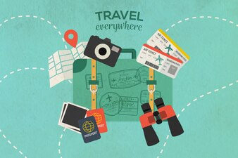 Travel the world background