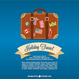 Travel valise vector background
