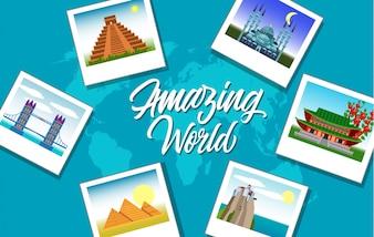Traveling background design