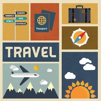 Travelling background design
