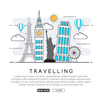 Travelling background design