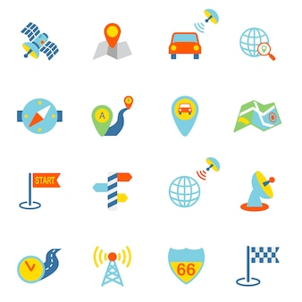 Travelling icons collection