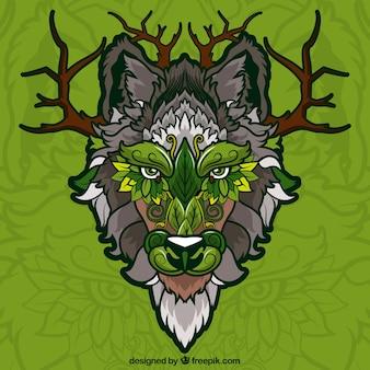 Tree ethnic wolf