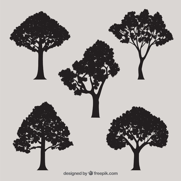 Tree Silhouette Vectors, Photos and PSD files | Free Download