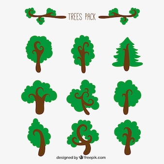 trees pack illustration