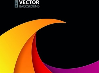 Trendy spiral colorful background vector set