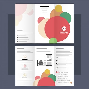 Tri-Fold Leaflet, Brochure with colorful circles.