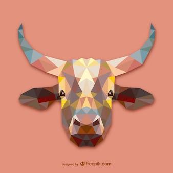 三角形の牛のデザイン