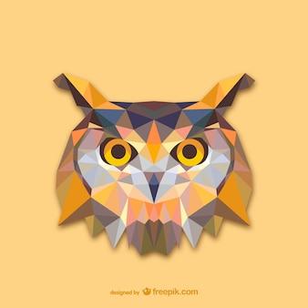 三角フクロウのデザイン