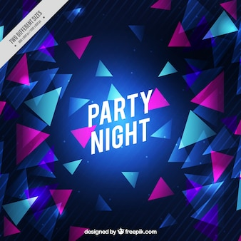 Triangle party background