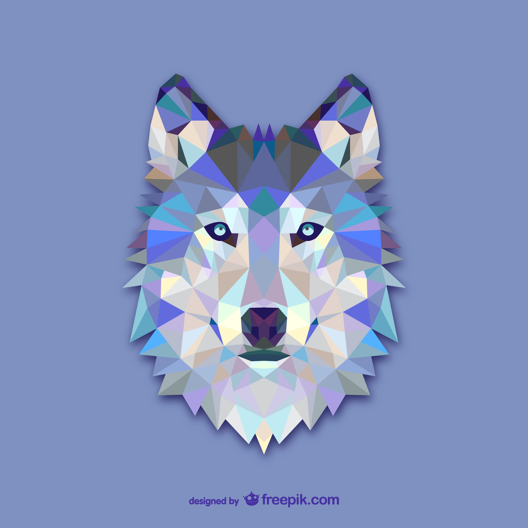 Triangle wolf design