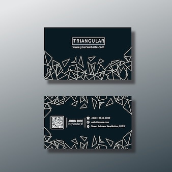 Triangular business card design