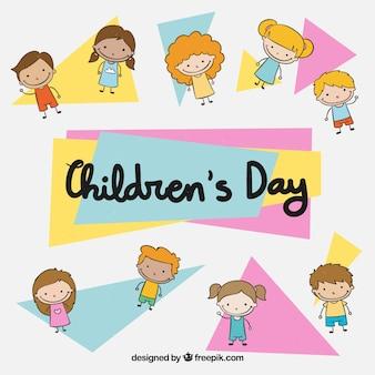 Triangular childrens day design