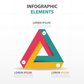 Triangular geometric infographics