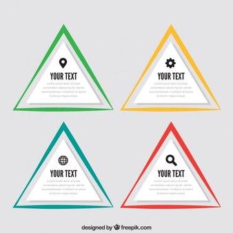 Triangular infographic template