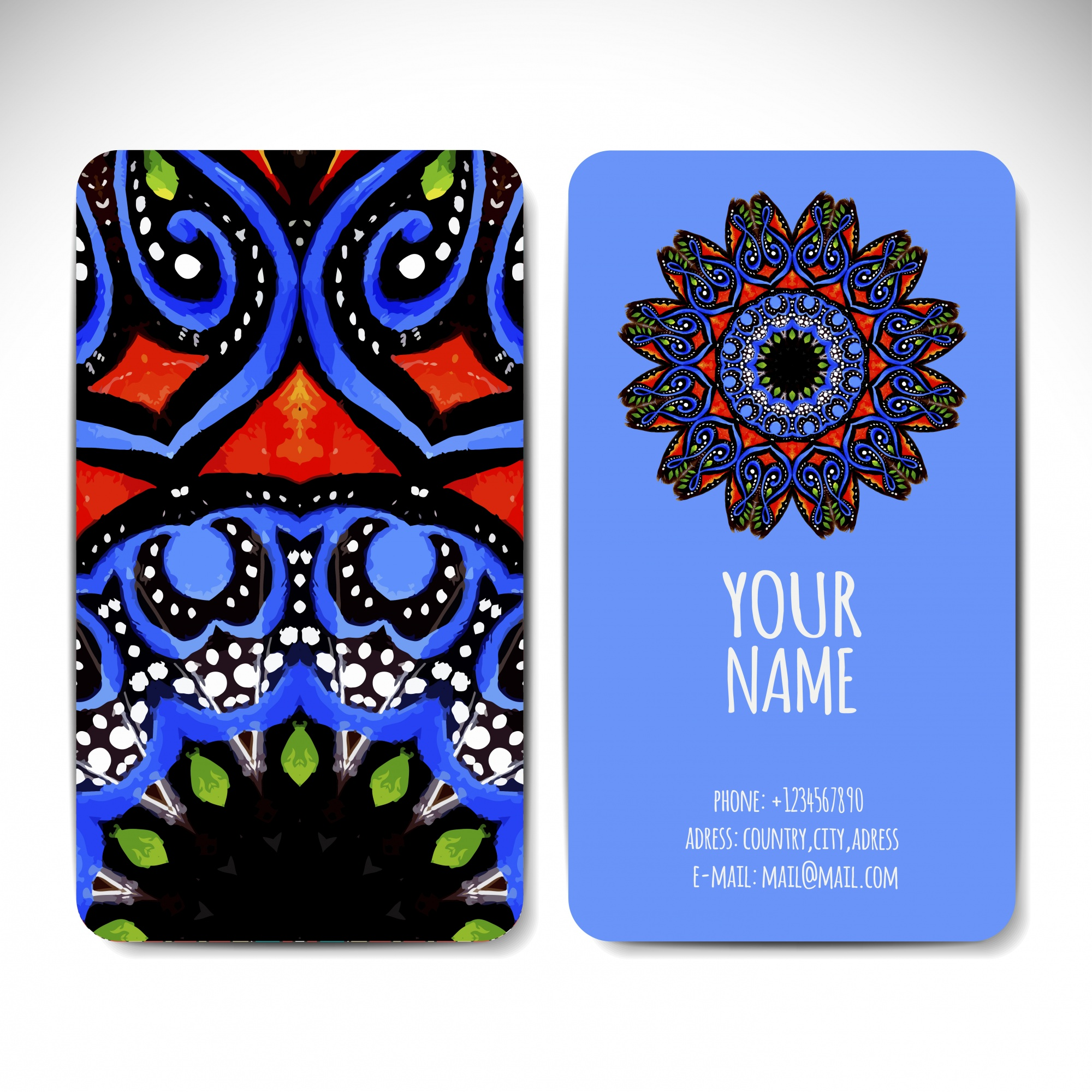 Tribal ethnic style business card
