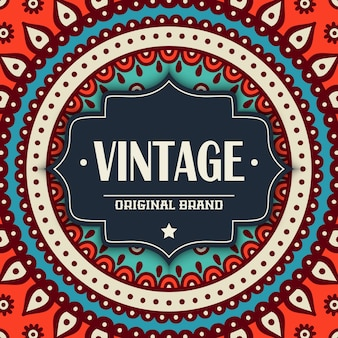 Tribal vintage mandala design