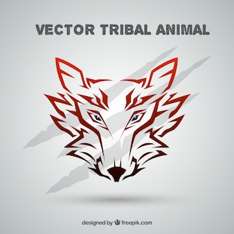 Tribal wolf background