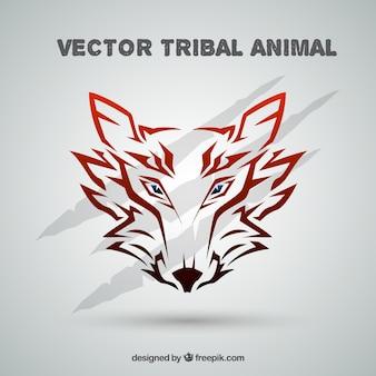 Tribal wolf background