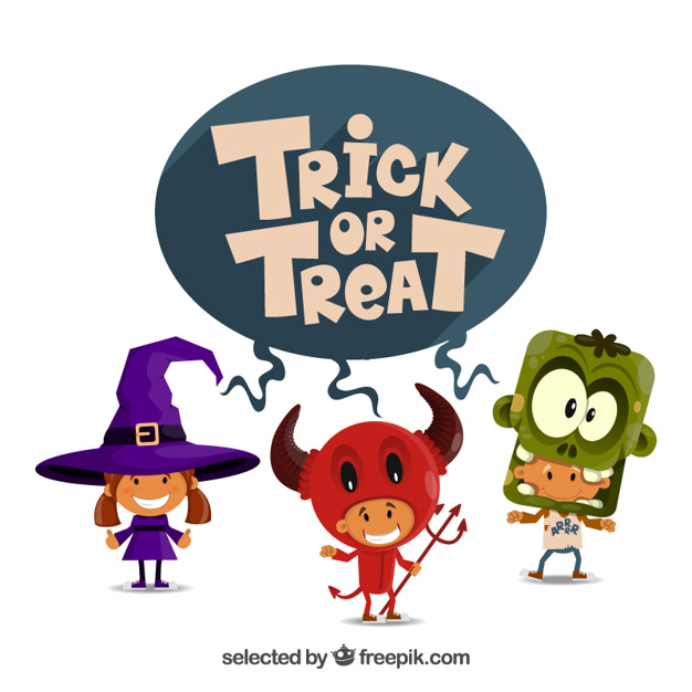 Trick or treat illustration