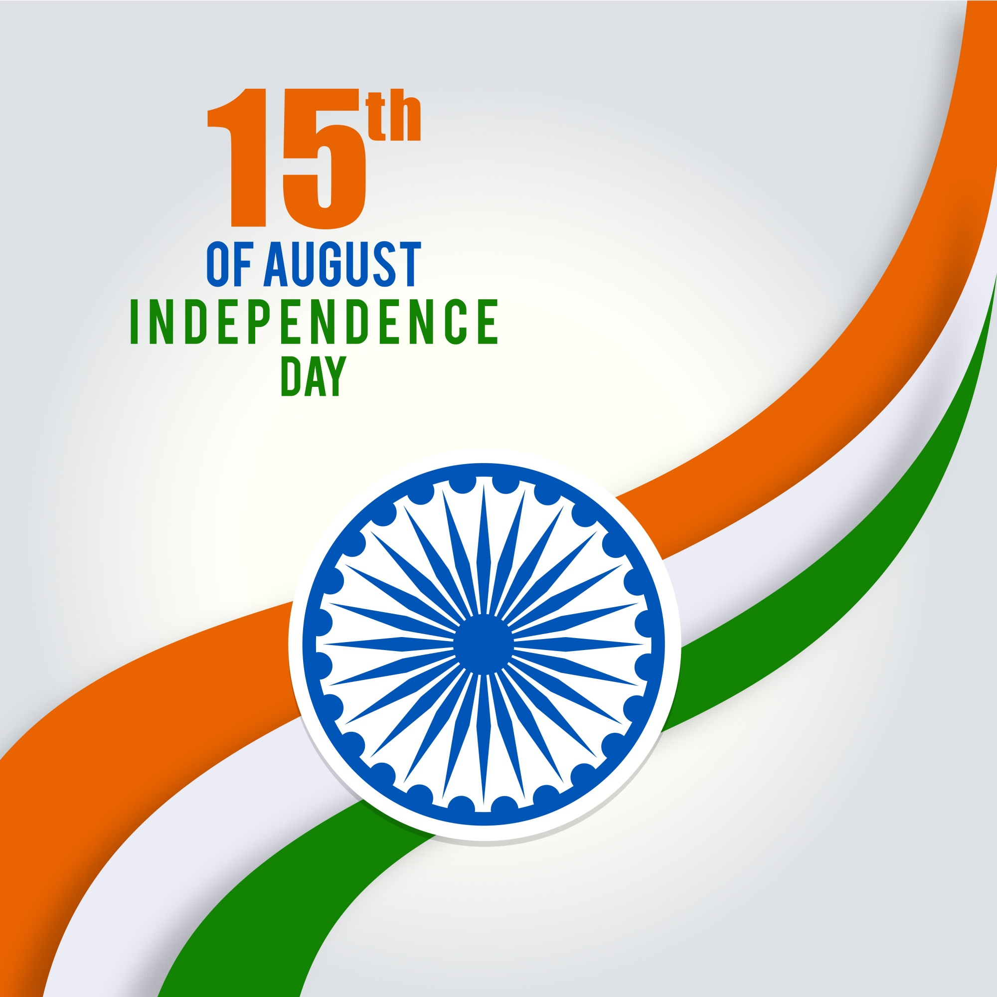 Tricolor illustration for indian independence day