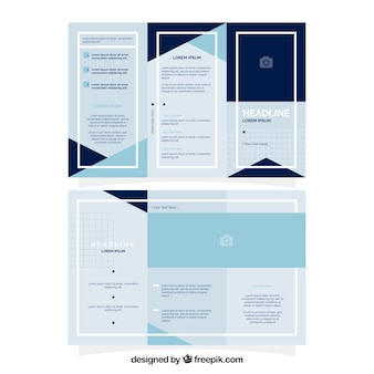 Trifold of business