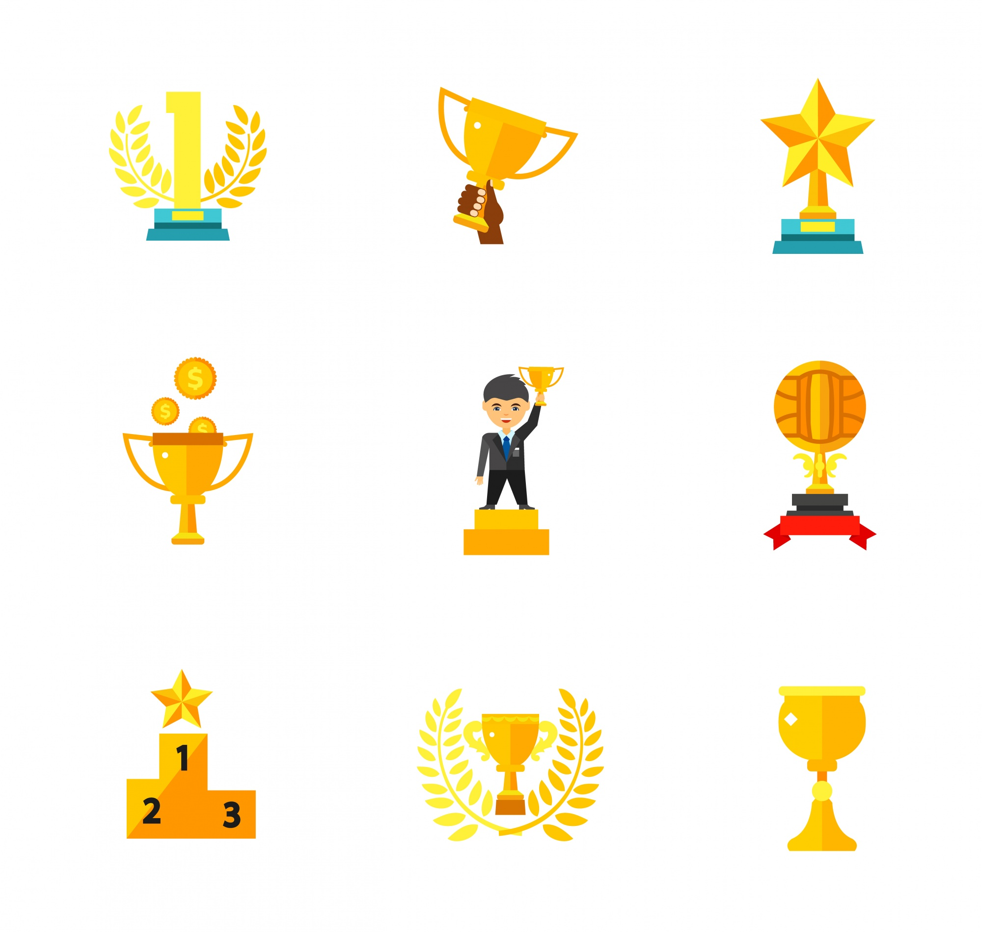 Trophy icons collection