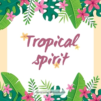 Tropical background design